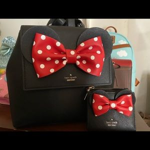 Kate spade Minnie backpack and wallet